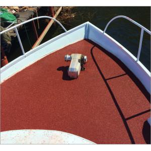 Палуба коробля, катера, яхты