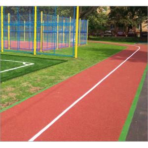 Спортивная площадка, беговая дорожка на улице